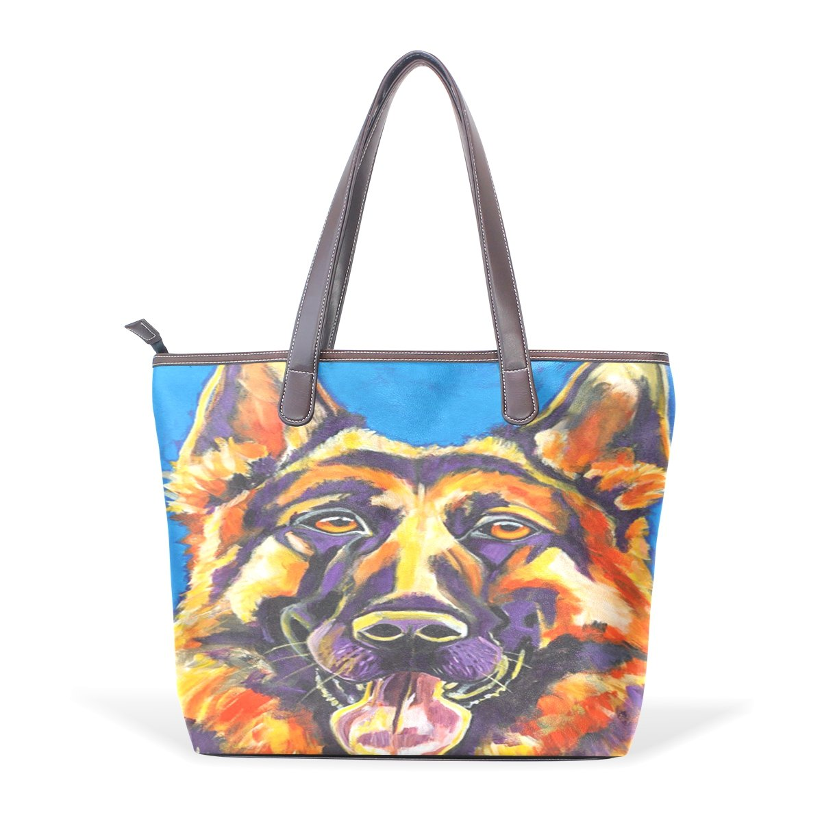 Ye Store Pet Dog Lady PU Leather Handbag Tote Bag Shoulder Bag Shopping Bag