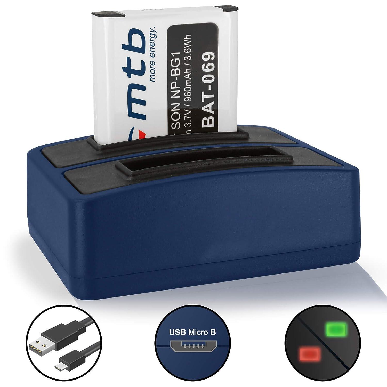 Calidad de la Cámara Cargador De Batería NP-BG1//NP-FG1 /& CABLE USB SONY DSC-W120 W130 W170