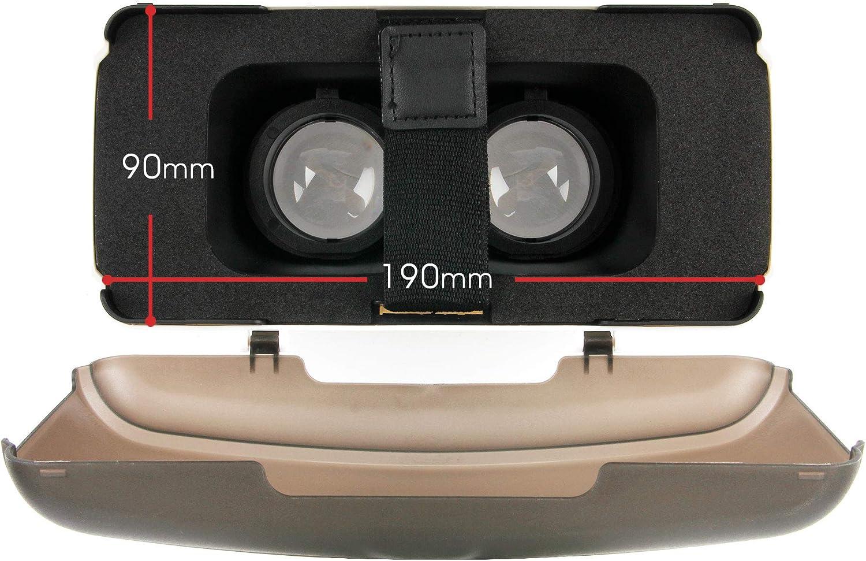 DURAGADGET Gafas de Realidad Virtual VR Ajustables en Color Negro Compatible con Smartphones Huawei P40 Lite Vivo IQOO 3 Gamuza limpiadora.