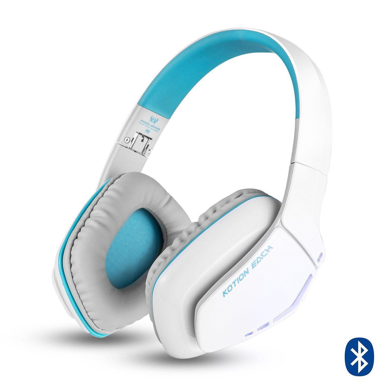 KOTION EACH Auriculares Bluetooth Estéreo Inalámbricos Plegables con Conexión de Cable B3506 (Micrófono, manos libres, Gaming Headset V4.1 con Micrófono ...