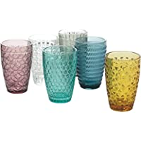 Villa d'Este Home Tivoli Geometrie - Juego de 6 vasos de bebida de cristal, 380 ml