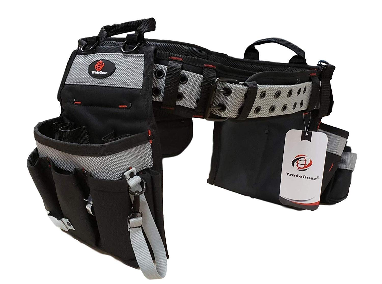 TradeGear Part#SZA Electrician's Belt & Bag Combo - Heavy Duty Electricians Tool Belt Designed for Maximum Comfort & Durability - Ideal for All Electricians Tools - Fits Sizes S - L (26''-40'') by TradeGear