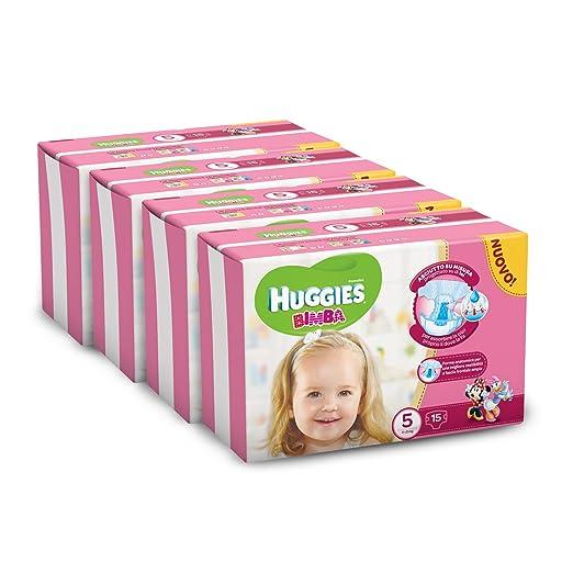 80 opinioni per Huggies Pannolini Bimba, Taglia 5 (11-25 kg), 4 Confezioni da 15 [60 Pannolini]
