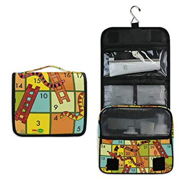 18348959aacd Amazon.com : Hanging Toiletry Bag Winning A Snakes And Ladders Game ...
