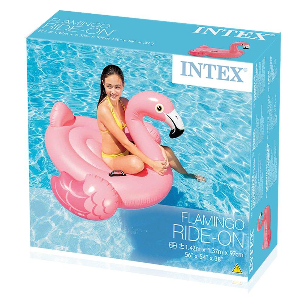 Intex 57558NP - Flamenco hinchable 142x137x97 cm