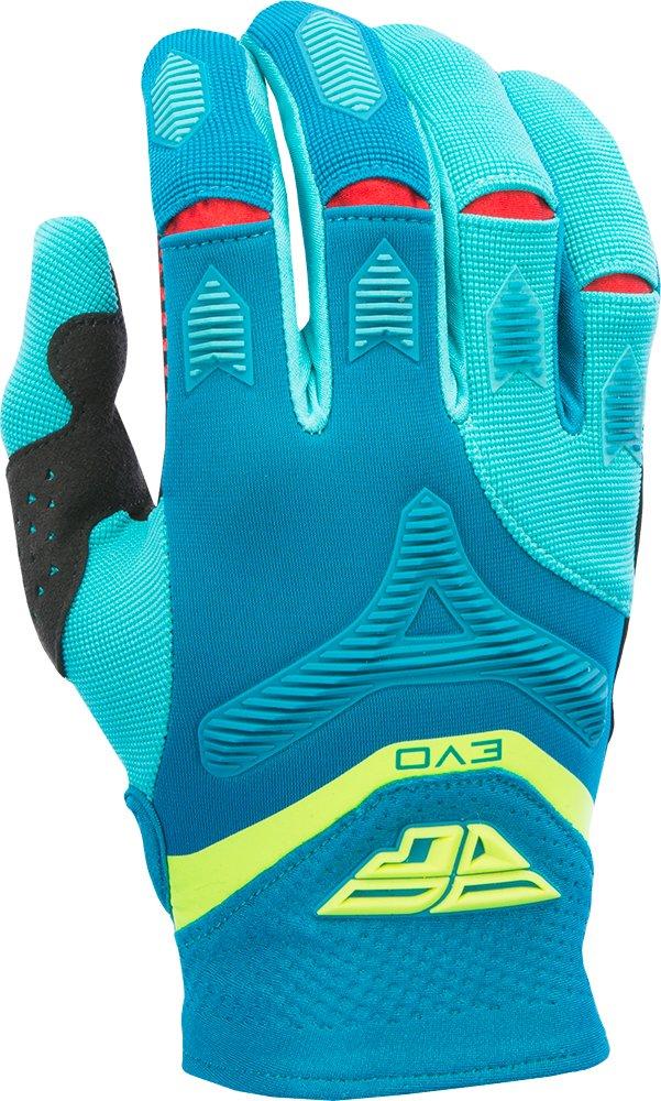 Fly Racing Unisex-Adult Eva Gloves Dark Teal//Hi-Vis Size 12 370-11912