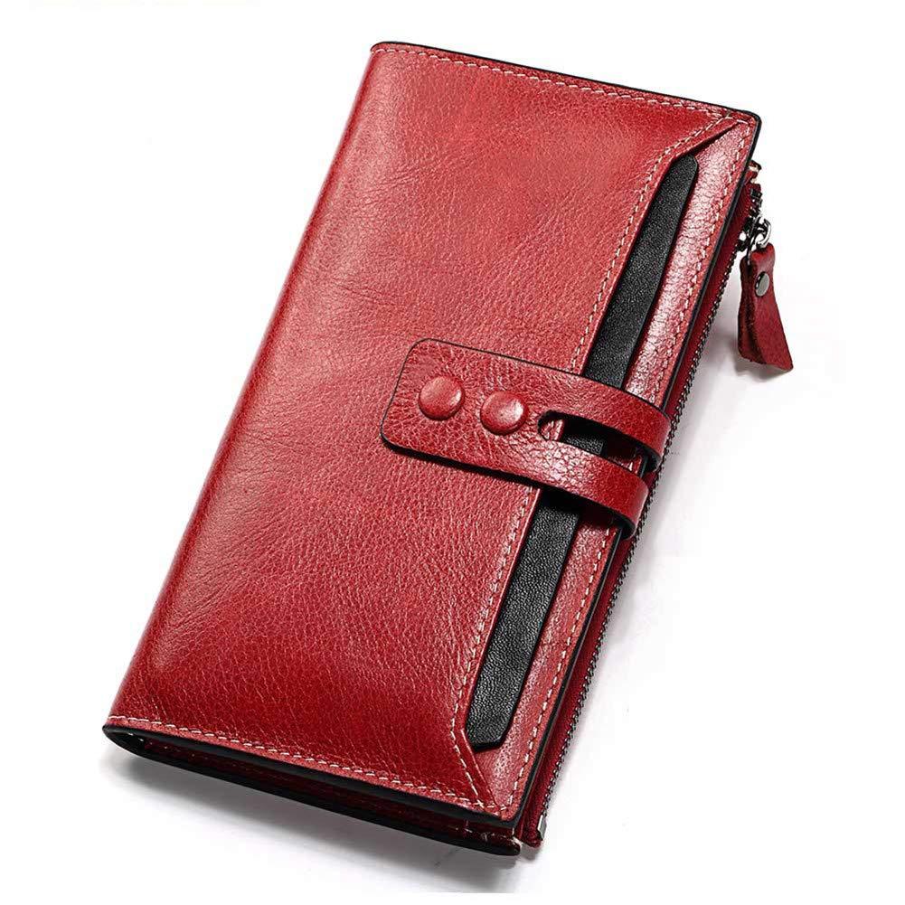 Womens Wallet RFID Blocking Slim Bifold Genuine Leather Thin Minimalist Front Pocket Wallets for Women