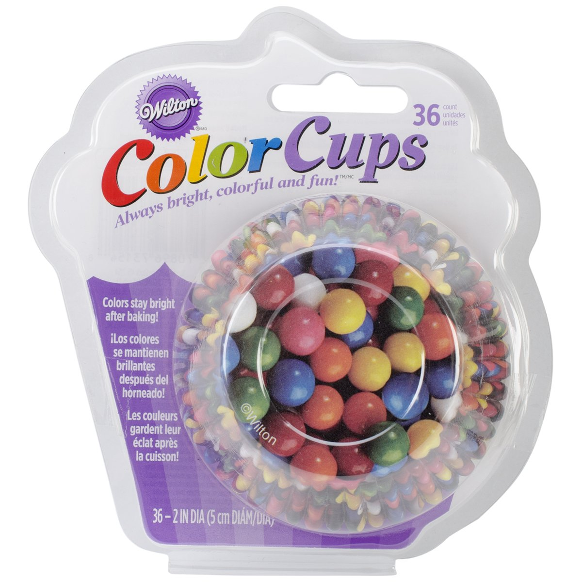 36-Pack Notions Wilton Standard Real Photo Clear Baking Cups Gumballs In Network W41521-54