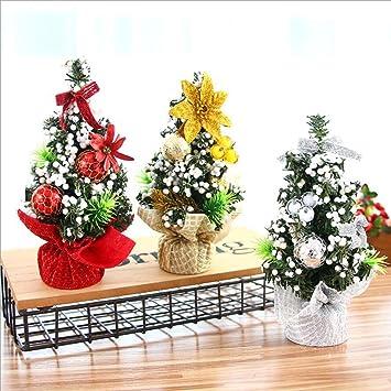 Albornoz de LUJO Mini árbol de navidad de mesa con arcos y adornos de adornos árbol ...