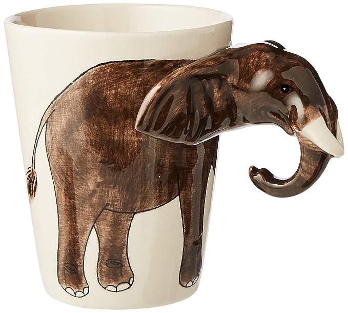 Taza Con Diseño De Elefante Con Orejas Y Trompa 3D...
