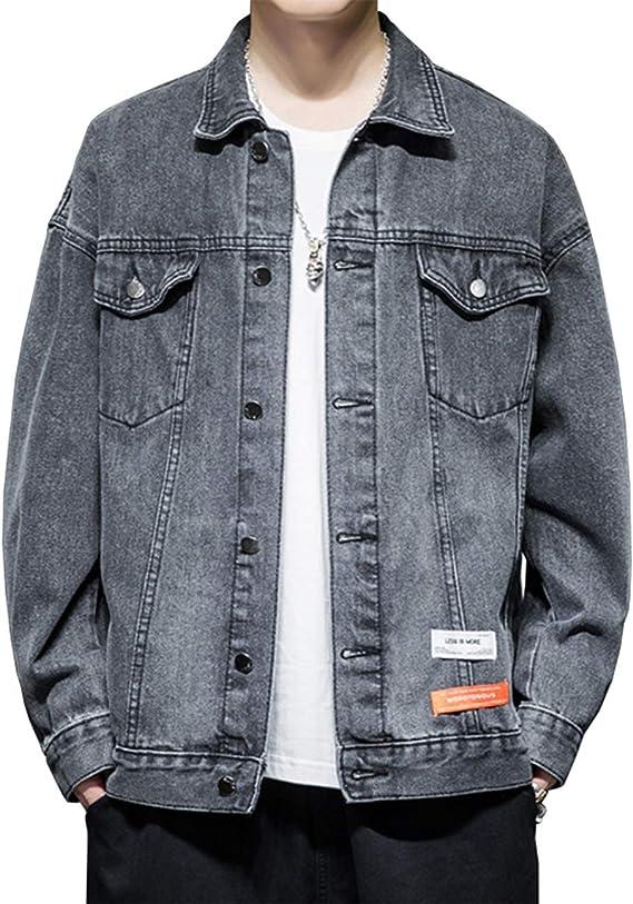 OKJCON デニム メンズ ジャケット ゆったり 春秋 綿 ジージャン カジュアル おしゃれ 大きいサイズ