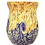 COOSA Ocean Wave Glass Electric Oil Warmer Wax Tart Burner Night Light