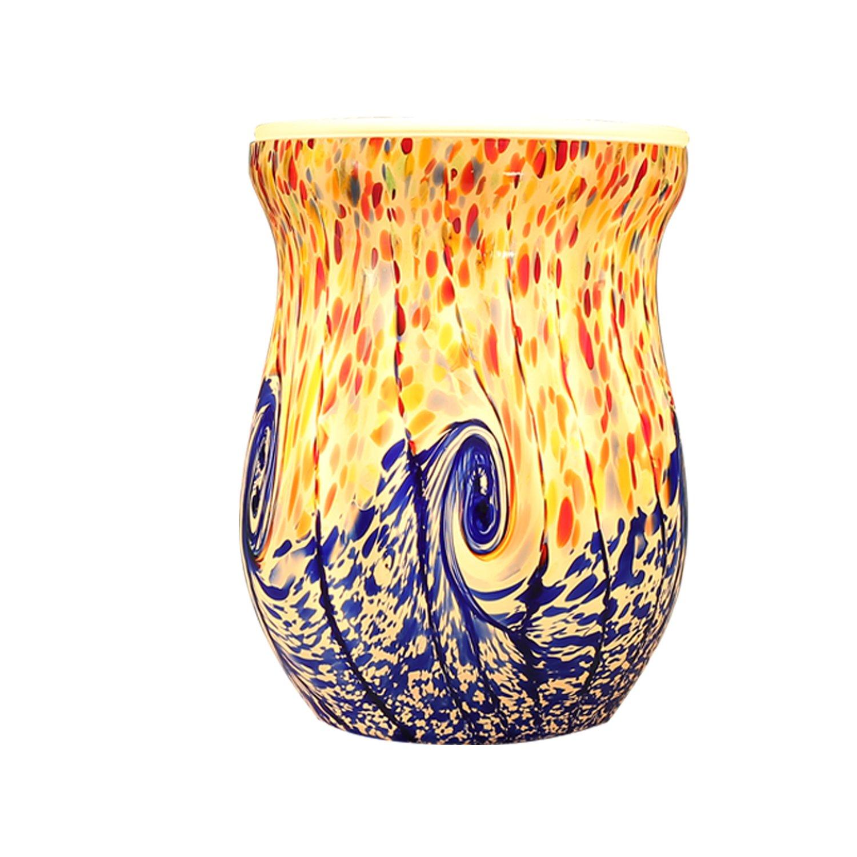 高質 COOSA COOSA Ocean WaveガラスElectric Oil マルチカラー WaveガラスElectric WarmerワックスTart Burner Night Light マルチカラー B01LZVCYYO, ミナミタネチョウ:ac9c14d7 --- ciadaterra.com