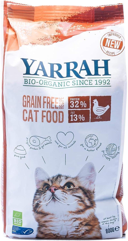 Yarrah Gato Pienso De Pollo Sin Cereales 800Gr. Bio 1 Unidad 800 g
