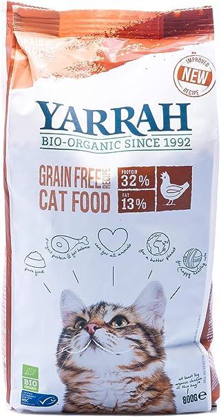 Yarrah Gato Pienso De Pollo Sin Cereales 800Gr. Bio 1 Unidad 800 g ...