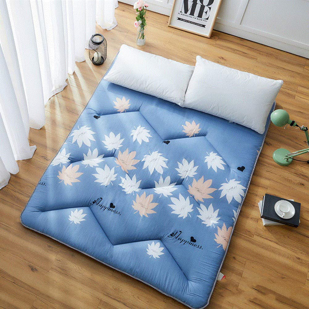 D 120x200cm(47x79inch) WYMNAME Printing Tatami Mattress Topper, Japanese Futon Foldable Roll Up Mattress Sleeping Pad for Camping Guests-d 120x200cm(47x79inch)