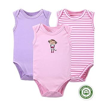 2015326c0041c (マザーネスト) Mother Nest ベビー服 新生児 袖無し ロンパース 女の子 男の子 綿100%
