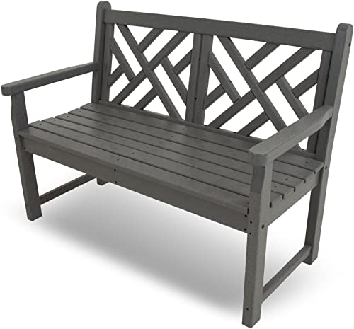 POLYWOOD CDB48GY Chippendale Bench