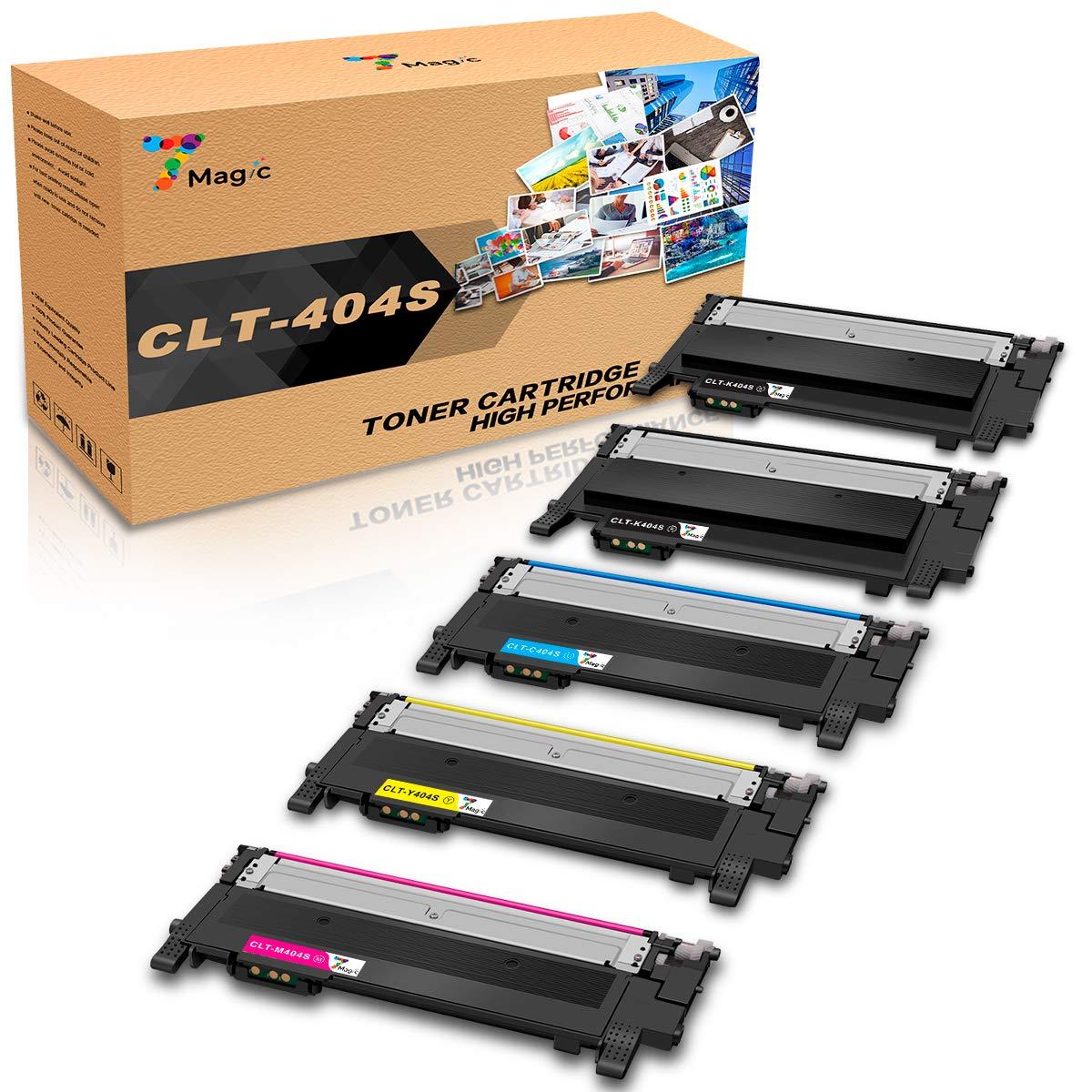 CLT-404,7Magic Tóner Compatible con Samsung CLT-P404C CLT-404S, CLT-K404S CLT-C404S CLT-M404S CLT-Y404S, Compatible con Samsung Xpress SL C430 C430W ...