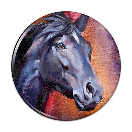 Imán para nevera de cocina, diseño de caballo negro con retrato de ...