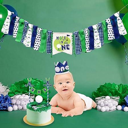 Cool Amazon Com Vansolinne Hole In One Golf High Chair Banner Set For Funny Birthday Cards Online Amentibdeldamsfinfo