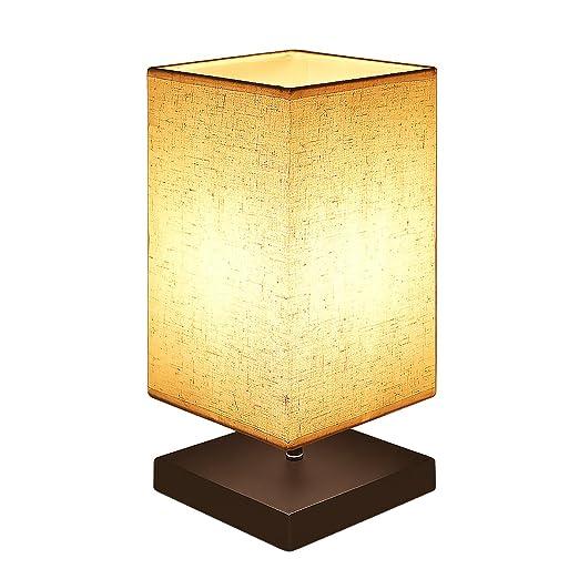 Amazon.com: visualización de tela lámpara de mesa de noche ...