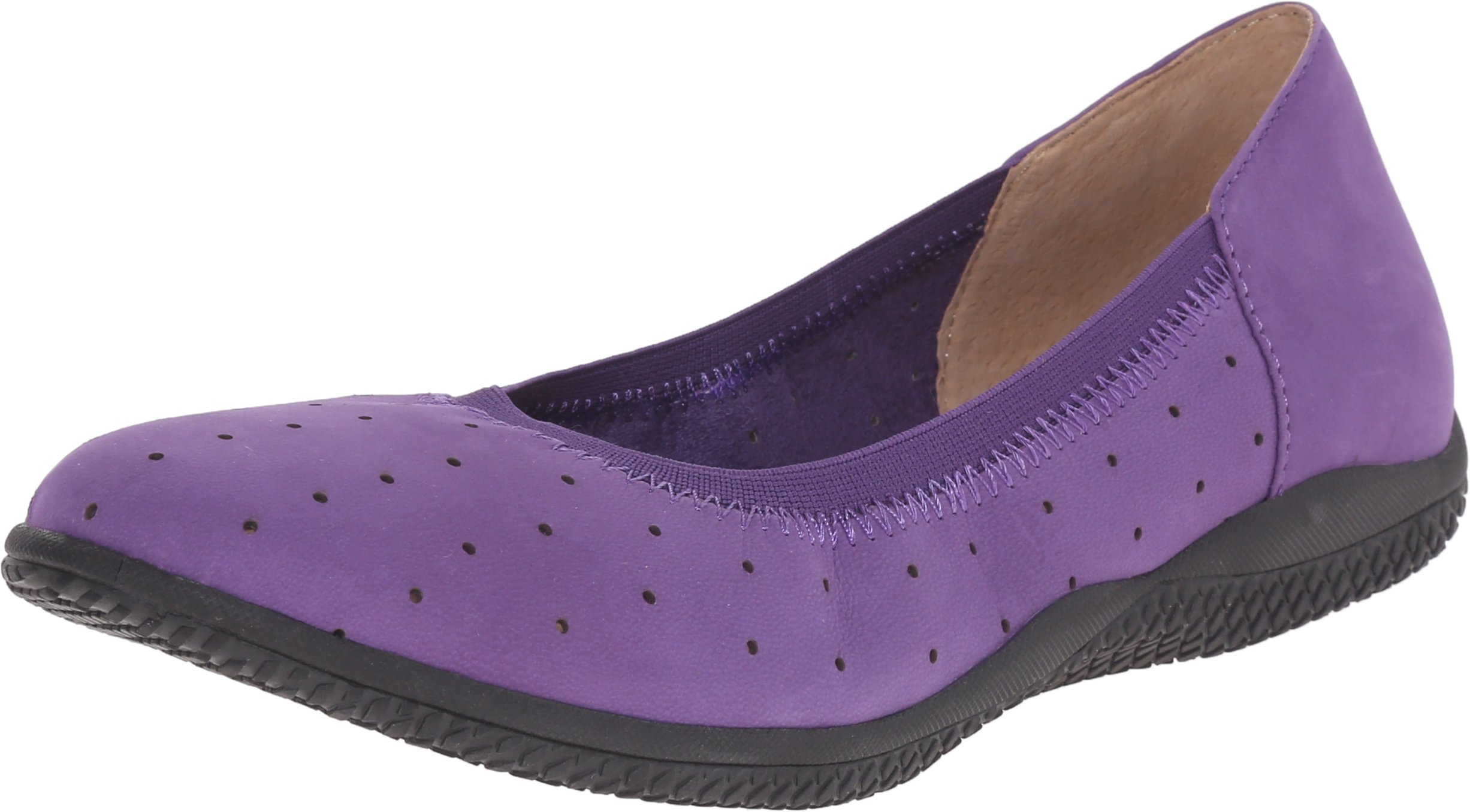 Softwalk Women's Hampshire Ballet Flat,Violet,10.5 W US