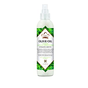 Nubian Heritage Leave In Conditioner for Dry Hair, Olive Oil Leave-in Conditioner That Nourishes for Healthy and Hydrated Hair, 7.5 Oz