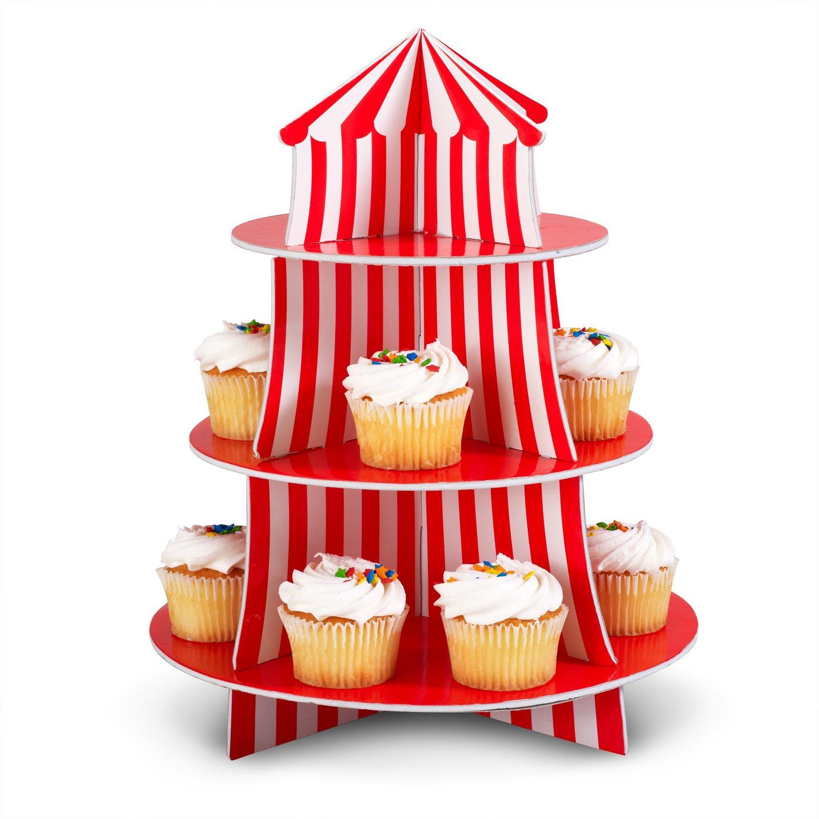 Big Top Cupcake Holder  sc 1 st  Amazon.com & 24 ct - Plastic Carnival Circus Big Top Character Cupcake Picks ...