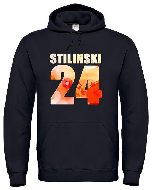 Stilinski 21 Teen Wolf Unisex Sudadera Con Capucha Hoodie S1 (S, Negro)