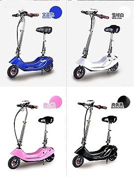 Mini bicicleta eléctrica plegable scooter 24V 12AH 300W para mujeres y niños bicicleta,Black