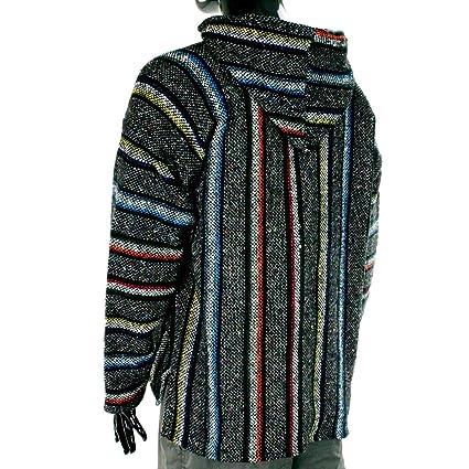 Sudadera con capucha estilo mexicano, diseño hippy, talla S a XXL, color gris y multicolor: Amazon.es: Ropa y accesorios