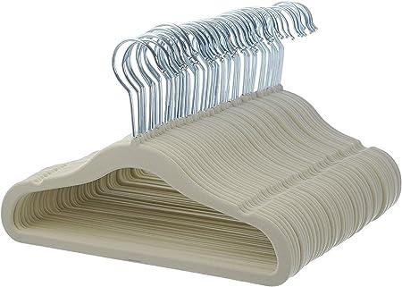Gray 30 Pack Basics Kids Velvet Hangers