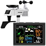 sainlogic Wireless Weather Station with Outdoor Sensor, 8-in-1 Weather Station with Weather Forecast, Temperature, Air Pressu