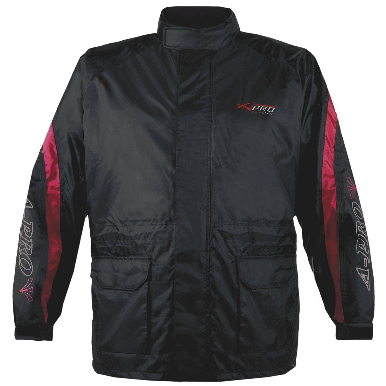 Veste Pluie Nylon 100/% Etanche Capuche Reflechissant Moto Motard Sport rouge XL