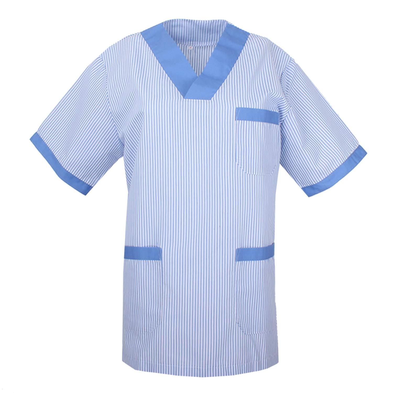 Misemiya ® - Casaca Sanitarios Uniformes MEDICOS Hospital Limpieza Veterinaria Dentista ESTÉTICA Médico Enfermería - Ref.T817: Amazon.es: Ropa y accesorios