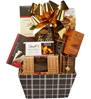 Ultimate chocolate lover gift chocolate basket amazon all about the baskets gourmet chocolate gift basket filled with quality chocolate delights 4 pound negle Images