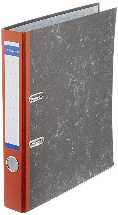 Pergamy PA0150NNRVM075 - Pack de 25 archivadores, A4, color rojo ...