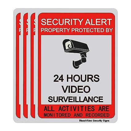 Amazon.com: Señal de vigilancia de vídeo, 24 horas de ...