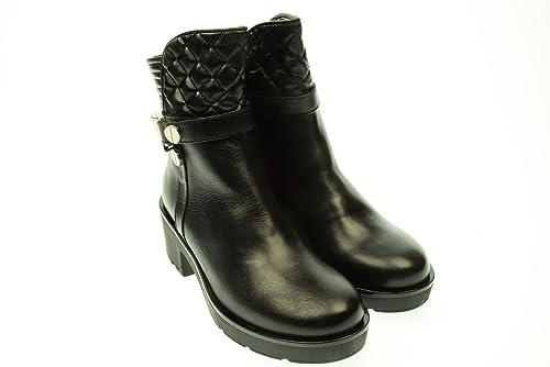 ALBANO Mujer Botines 1295 ANF40 40 Nero: Amazon.es: Zapatos y complementos