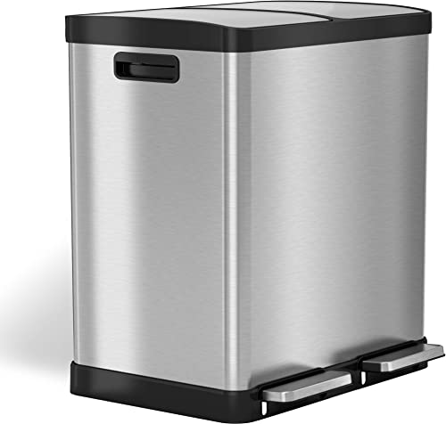 iTouchless-16-Gallon-Dual-Step-Trash-Can-&-Recycle