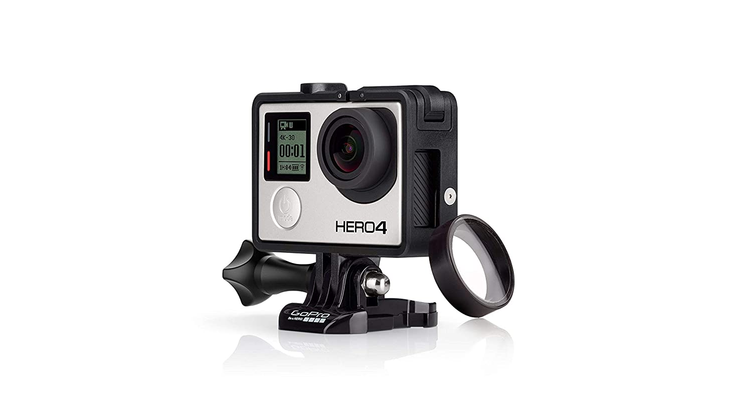 Amazon.com: GoPro - Marco para HERO4, color negro y plateado ...