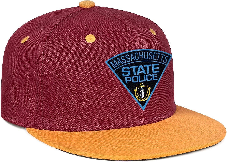 Massachusetts State Police Mens Womens Dad Hats Classic Snapback Flat Bill Caps
