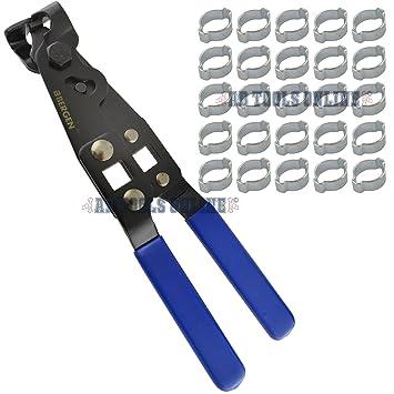 Oreja doble tubo abrazaderas Abrazaderas de manguera de 13-15mm 25pcs Y JUNTA HOMOCINÉTICA PINZAS DE ARRANQUE: Amazon.es: Bricolaje y herramientas