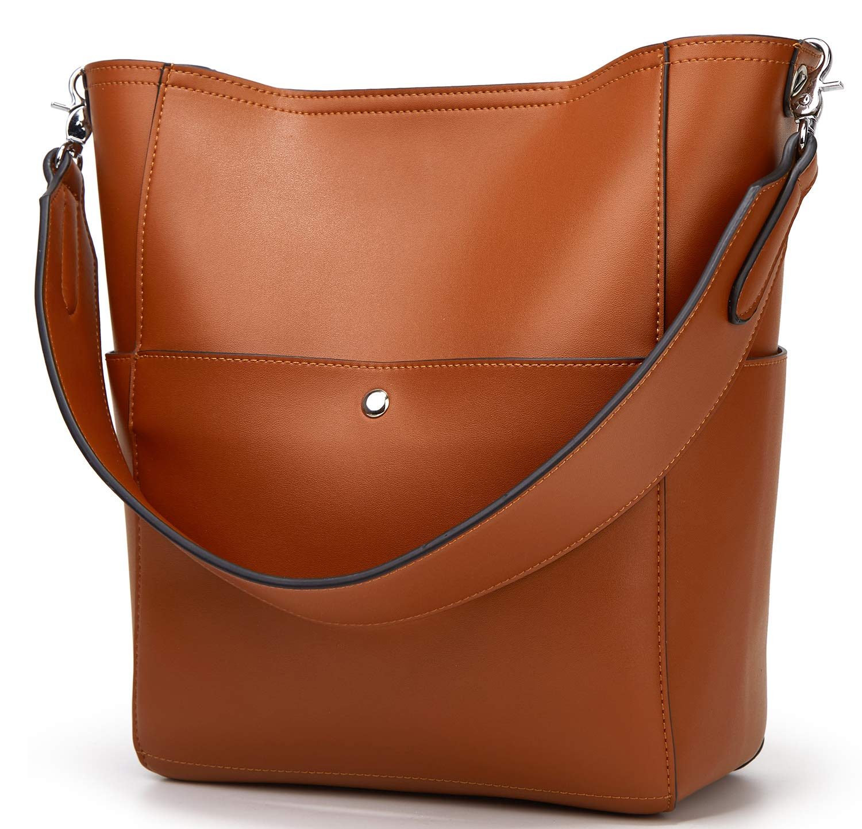 Molodo Women's Satchel Hobo Top Handle Tote Shoulder Purse Soft Leather Crossbody Designer Handbag Big Capacity Bucket Bags