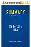 Summary: The Personal MBA: Review and Analysis of Kaufman's Book (English Edition)