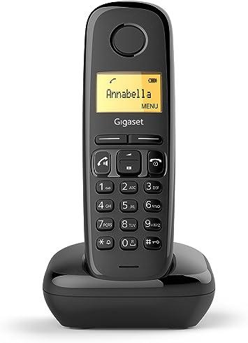 Gigaset A270 - Teléfono (Teléfono DECT, Terminal inalámbrico, Altavoz, 80 entradas, Identificador de Llamadas, Negro): Amazon.es: Electrónica