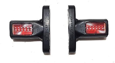 8 x 12 V 24 V LED Front-Seitenmarkierungsleuchten hinten Kurze Lampen mit Gummiarm wei/ß orange rot wasserdicht E-Pr/üfzeichen