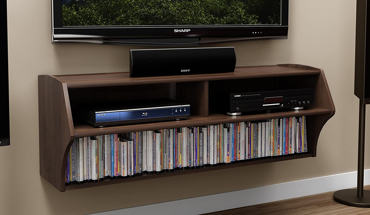 Espresso Altus Wall Mounted Audio Video Console