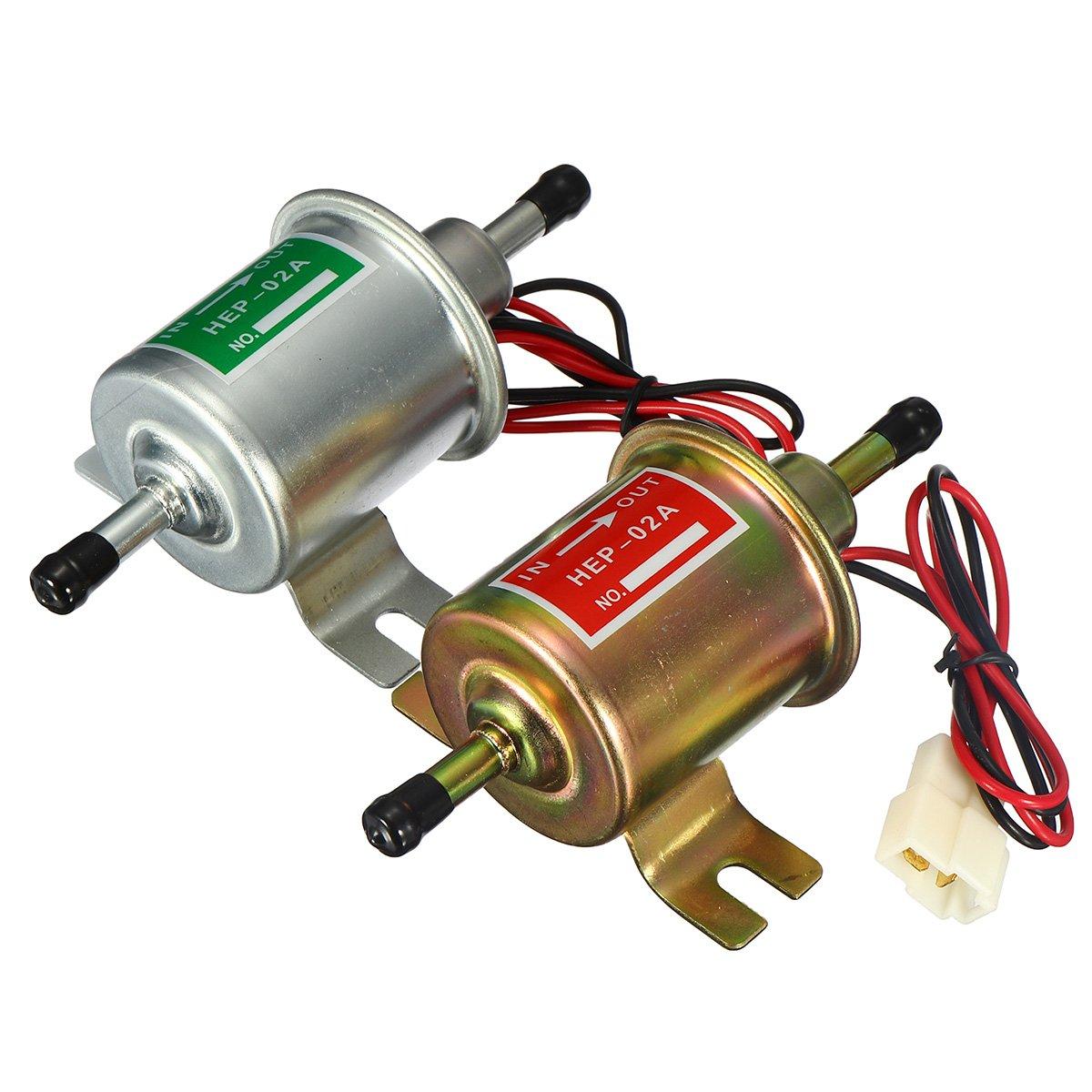 Alamor 24V Universal Diesel Essence Pompe /À Carburant /Électrique Hep-02A Basse Pression